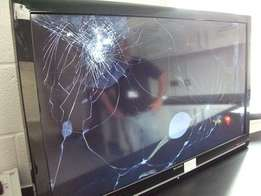 We fix broken screens for flat tv both led and lcd