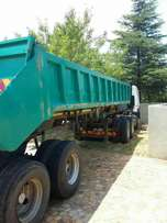 Double axle end tipping Coplyn trailer