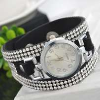 crystal gold watch
