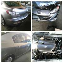 Mazda 2 and Mazda 3 stripping for spare parts