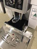 DeLonghi White Compact Coffee Machine