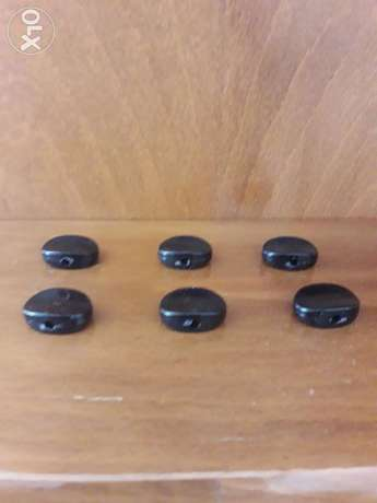 Buttons for pegs of Guitar (black) : 6PCS