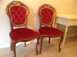 Antique Hartmann and Keppler French dining chairs