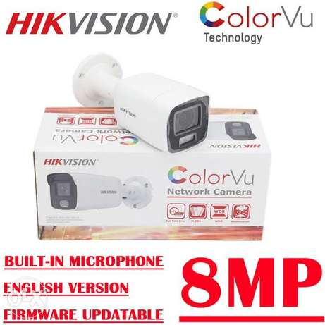 8MP POE DS-2CD2087G2-LU new Hikvision CCTV ip camera Surveilance color
