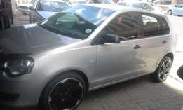 Vw polo vivo 1.6 silver in color hatshback 2013 model 70000km R110000