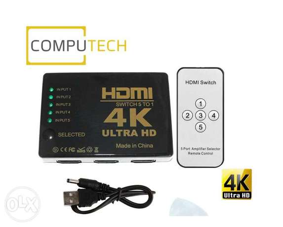 HDMI Switch 4K Intelligent 5-Port HDMI Switch, 5 in 1 out HDMI Switch