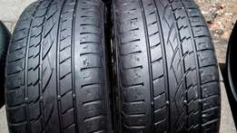 2 X 255/50/19 continental run flats Tyres for sell