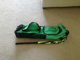 Hockey bag and stick