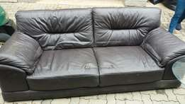 Sitting leather couch