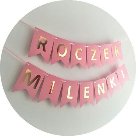 d1e63193fa3947 Baner girlanda topper personalizowane dekoracje urodzinowe roczek Warszawa  - image 1