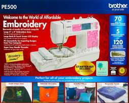 Brand new Brother PE 500 embroidery machine