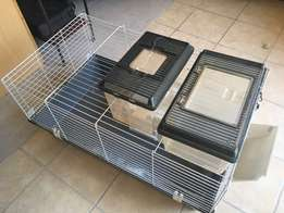 Bunny cage and 2 Reptile feeder boxes