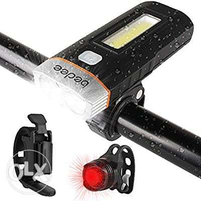 bedee LED Bicycle Light Set Bicycle Light with Rear Light USB Recharge