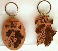 We brand logos on wooden Keyholders. Contact us today
