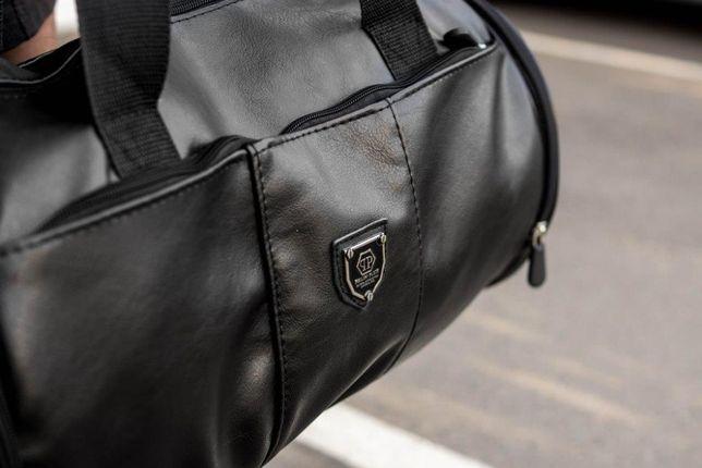 Мужская кожаная сумка бочка Philipp Plein дорожная спортивная рюкзак  Харьков - изображение 2 bbe395155ce7f