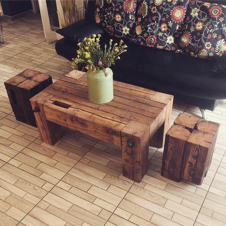 Stolik Kawowy Drewniany Stolik Stare Drewno Meble Z