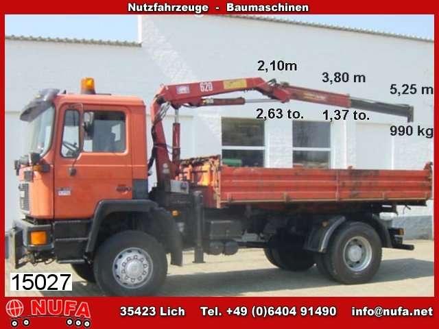 MAN M08 17.222 4x4 Mit Kran Hmf 623 K1 B3 - 1995