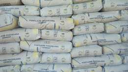 Cement and building materials for sale.