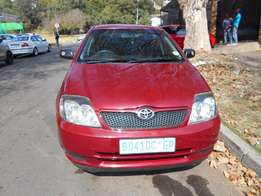 Toyota Runx 1.4 rt 2007 model maroon in color 89000km R78000