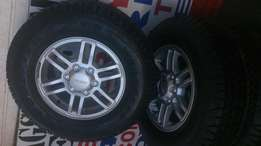 Brand new Isuzu mag rims with tyres for sale