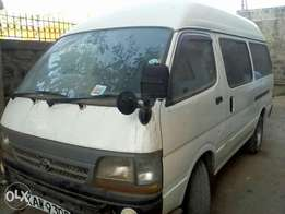 A very clean and privately used toyota hiace for sale