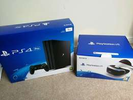 In boxed new PlayStation 4 Pro 1tb plus PlayStation Vr full setup