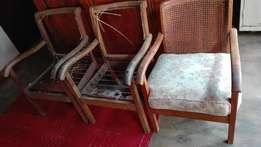 3 x Antique chairs