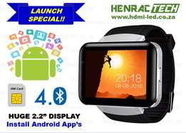 "DM98 Android Smart Phone Watch, 3G, 2.2"" Display, Camera, WiFi, GPS et"