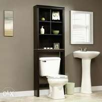 Slim Storage cabinet for master bath toilet room for supplies