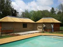 Africa Thatch canvas outdoor blinds
