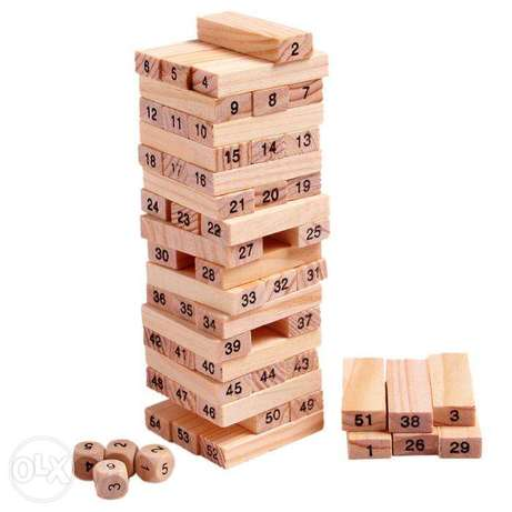 Brand New 54 PCS Wooden Tumbling Tower