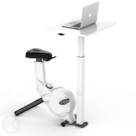 Exercise bike with table