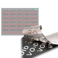 30 X VOID FACE MATERIAL Security Seals. Security Tamper Evident Labels