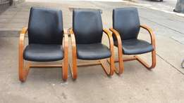 Real leather chairs in good condition