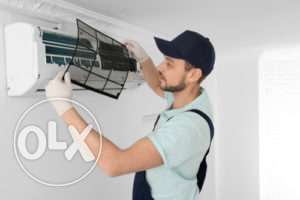 AC installation gas charging complete maintenance