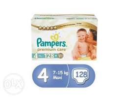 Pampers Premium Care Size 4 Mega Box 128 Count