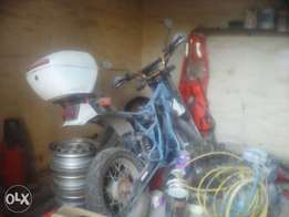 suzuki dr 600 with gs 550 engine project