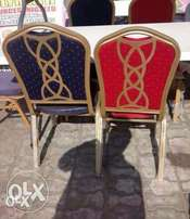 Banquet Chair With Metal Back