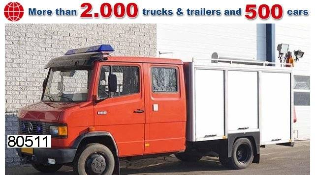 mercedes-benz 811d 4x2 feuerwehrwagen - 1990