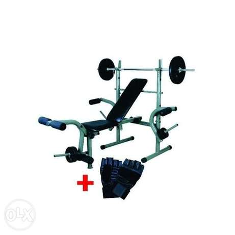 Universal Weight Bench With 50kg Weight Plus Gym Glooves Lagos Mainland - image 1