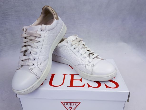 55f682608017e Trampki Logo 37 White Białe Sneakersy Oryginalne Tenisówki Guess qwa7tRWv