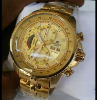 Edifice dated golden watch