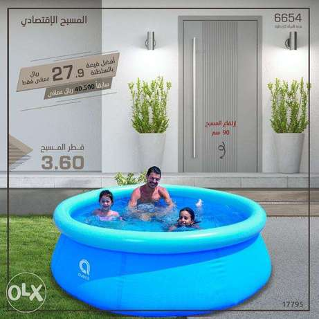 Swimming pool size 3.6 in height 90 cm without filter
