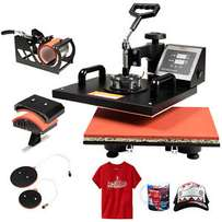 5 in 1 Heat Press Machine Digital Transfer Sublimation T-Shirt Mug Hat