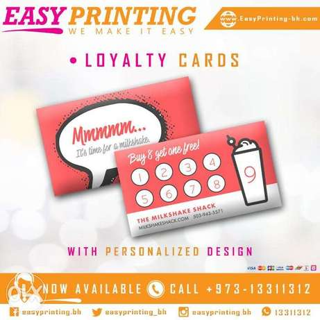 Loyalty Cards - with Free Delivery Service!