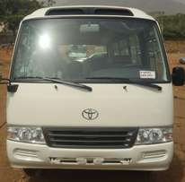new coaster bus for sale, 2012, petrol & available for inspection