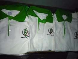 T-shirts, Polo T-shirts and Shirts branding and embroidery.