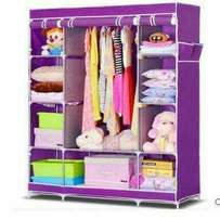 Flowered Portable wardrobe with 3 column