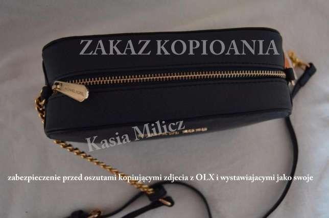 9557b28b21467 Mała czarna torebka MICHAEL KORS jet set na złotym łańcuchu Milicz - image 3