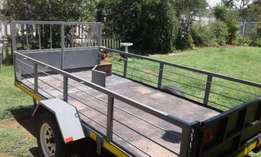 4m X 2m Flatbed Trailer. Double Axel and hydraulic brakes